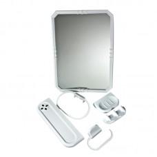 Комплект за баня с правоъгълно огледало