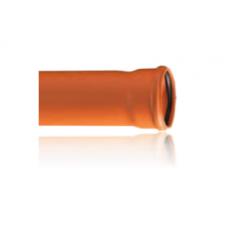 PVC тръба за сградни инсталации Ф110х1,8мм - с КА муфа - различни дължини