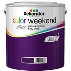 Латекс Decorator Color Weekend Mat - различни цветовe - 2.5л