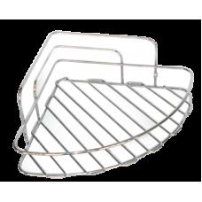 Етажерка за баня - ъглова метална решетка - 40489