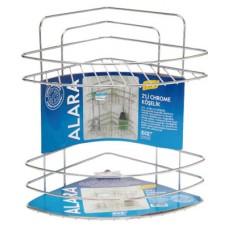 Етажерка за баня - ъглова метална решетка  - 40106