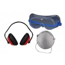 К-т маска за прах, антифони и защитни очила